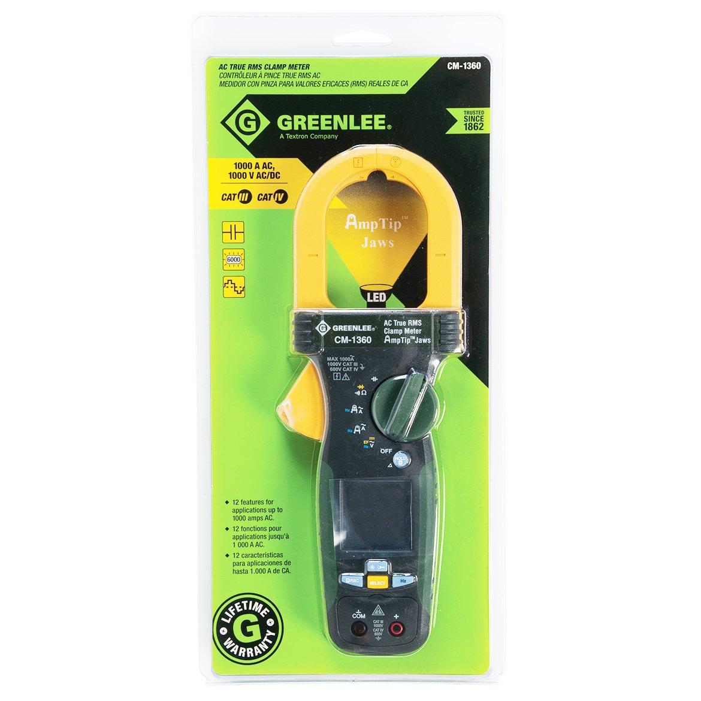 Greenlee - Medidor de abrazadera de uso general, CM-1360: Amazon ...