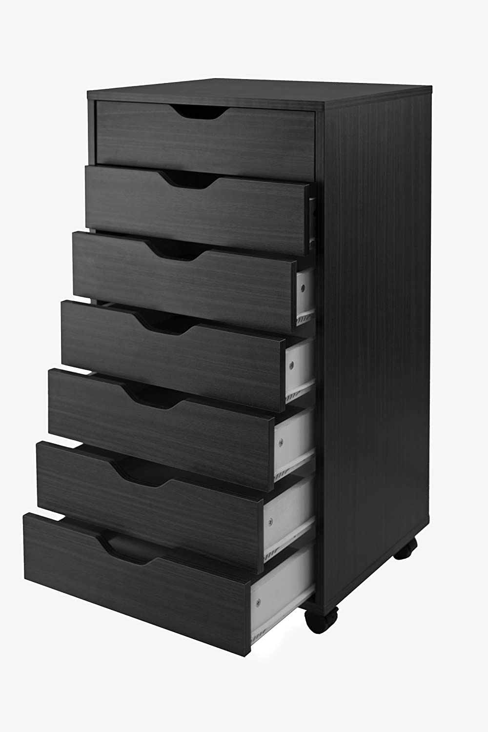 Merveilleux Amazon.com: Winsome Halifax Cabinet For Closet/Office, 7 Drawers, Black:  Kitchen U0026 Dining