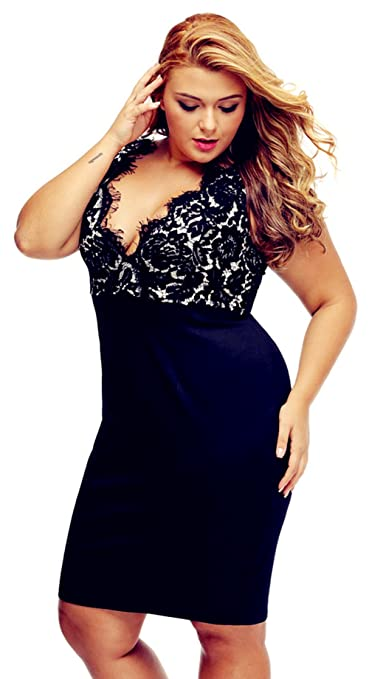 Womens Plus Size Sexy Dresses Cocktail Crochet Sleeveless Deep V-Neck M-4XL at Amazon Womens Clothing store: