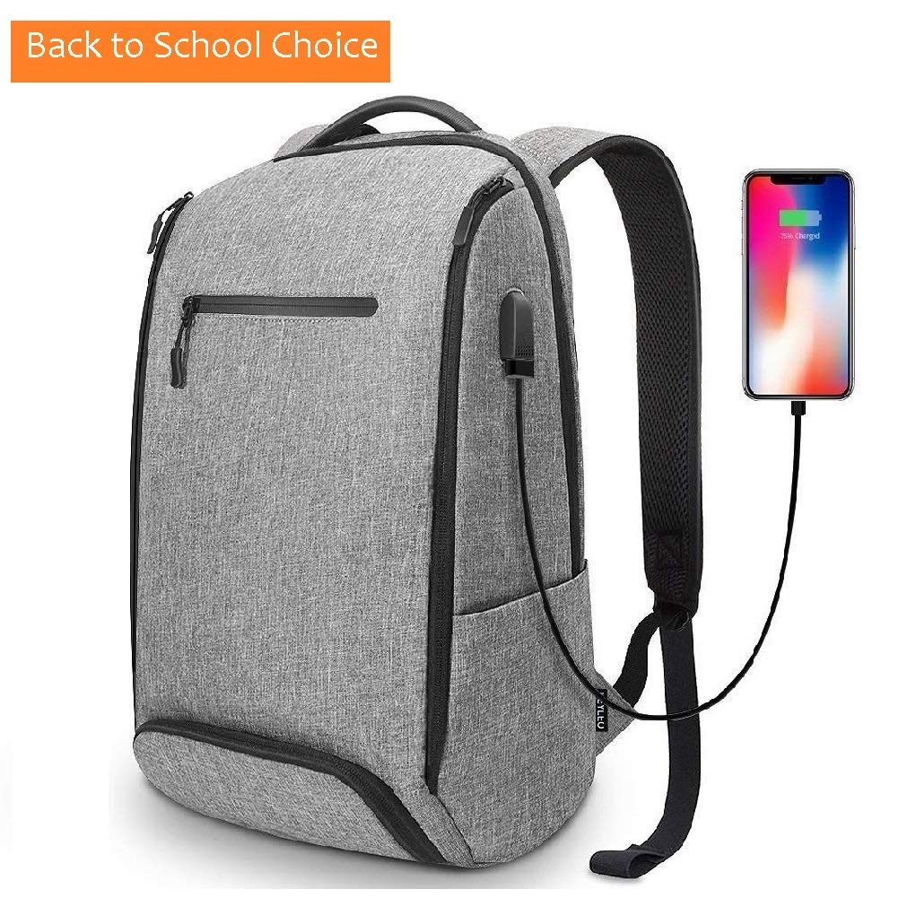 Laptop Backpack, REYLEO Backpack, Work Backpack for Man&Woman,Fits 15.6 Inch Laptop, with Shoe Compartment, External USB Charging Port, Water Resistant,Gray, Back to School Choice, RB06 by REYLEO (Image #2)