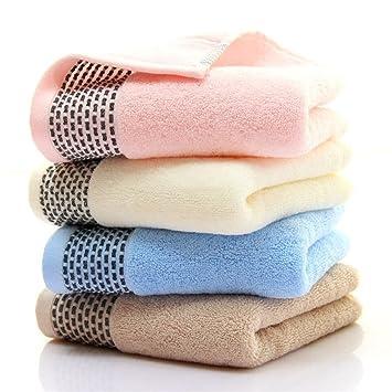 Toallas Juego de 4 toallas de algodón puro Baño de mano hoja 8 colores de calidad del hotel ...
