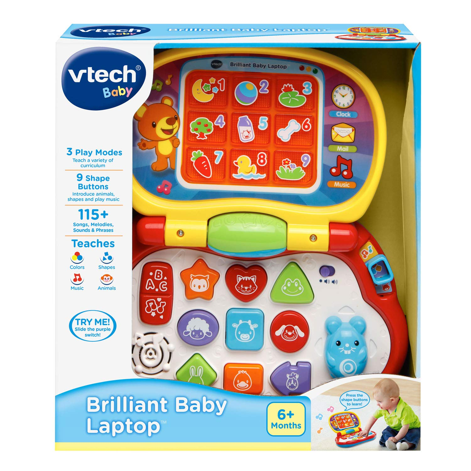 VTech Brilliant Baby Laptop,red by VTech (Image #7)