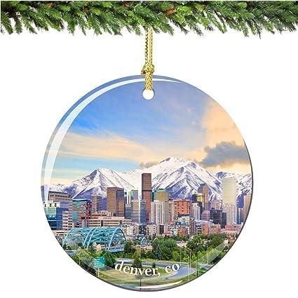 Christmas In Denver Colorado.Amazon Com City Souvenirs Denver Colorado Christmas