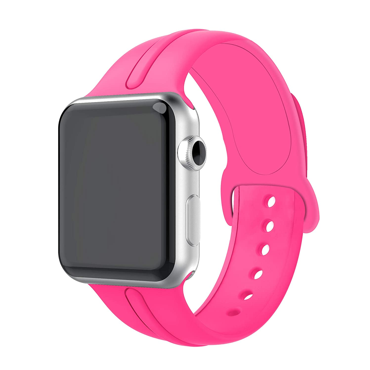 Yayuu Compatible SmartWatch Band 38/40mm 42/44mm, Soft Silicone Strap Adjustable Replacement iwatch Wristbands SmartWatch Series 4/3 / 2/1,Sport, ...