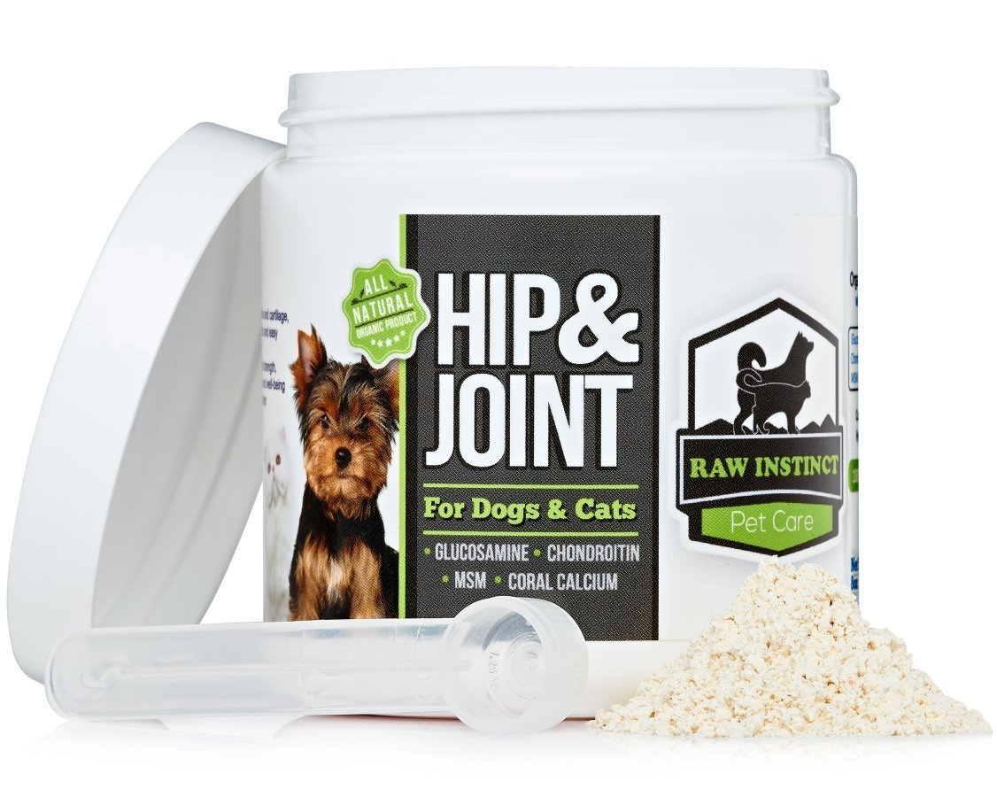 Best Glucosamine For Dogs By Raw Instinct - Natural Joint Pain Relief & Arthritis Treatment - With MSM, Chondroitin, Hyaluronic Acid & Curcumin Extract - 180 Servings - Satisfaction Guaranteed!