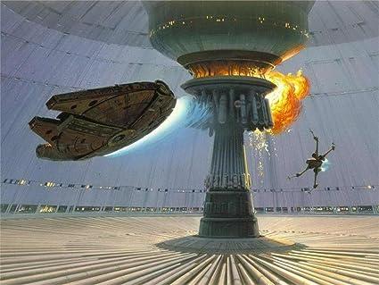 Twenty Three 24X36 Inch Canvas Poster Explosions Death Star Millennium  Falcon X Wing Concept Art