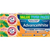 Arm & Hammer Advance White Extreme Whitening Toothpaste, 6 oz Twin Pack (Packaging May Vary)