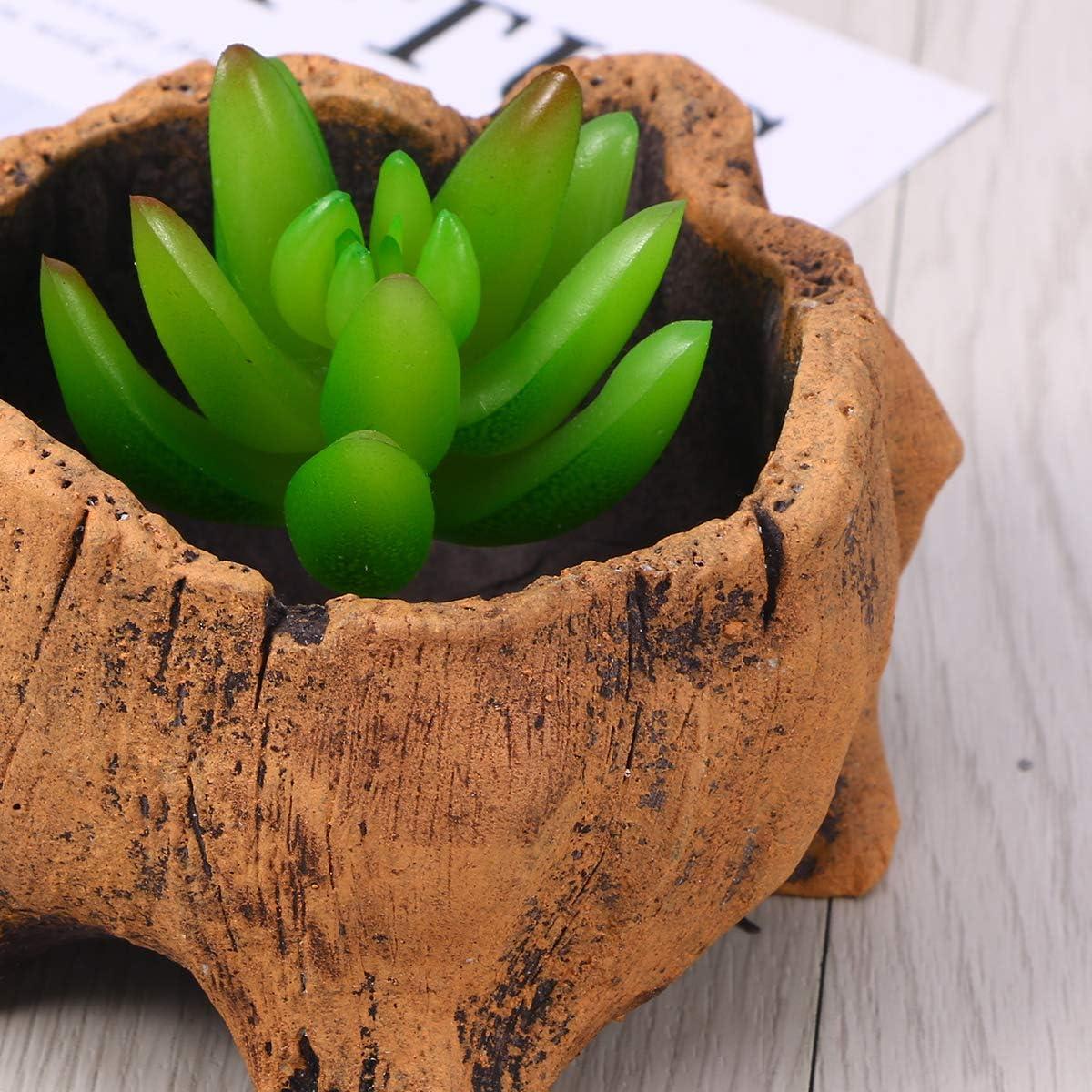 Toyvian Vaso per Piante grasse Decorazione da Esterni per Giardino,Fioriera in Legno per fioriera Artificiale
