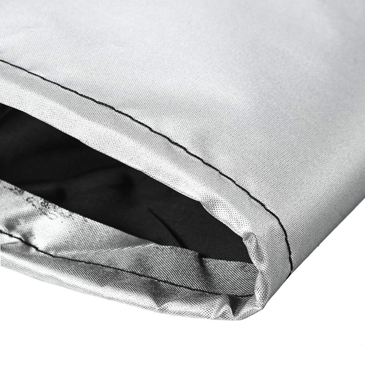 dDanke 215x215x87x80 cm Wasserdichte staubdichte Polyester Outdoor Ecksofa L-Form Abdeckung f/ür Terrasse Garten Lounge Sofa Silber