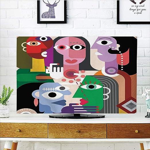 Funda para televisor LCD, diseño de mujer vintage con efectos de ...