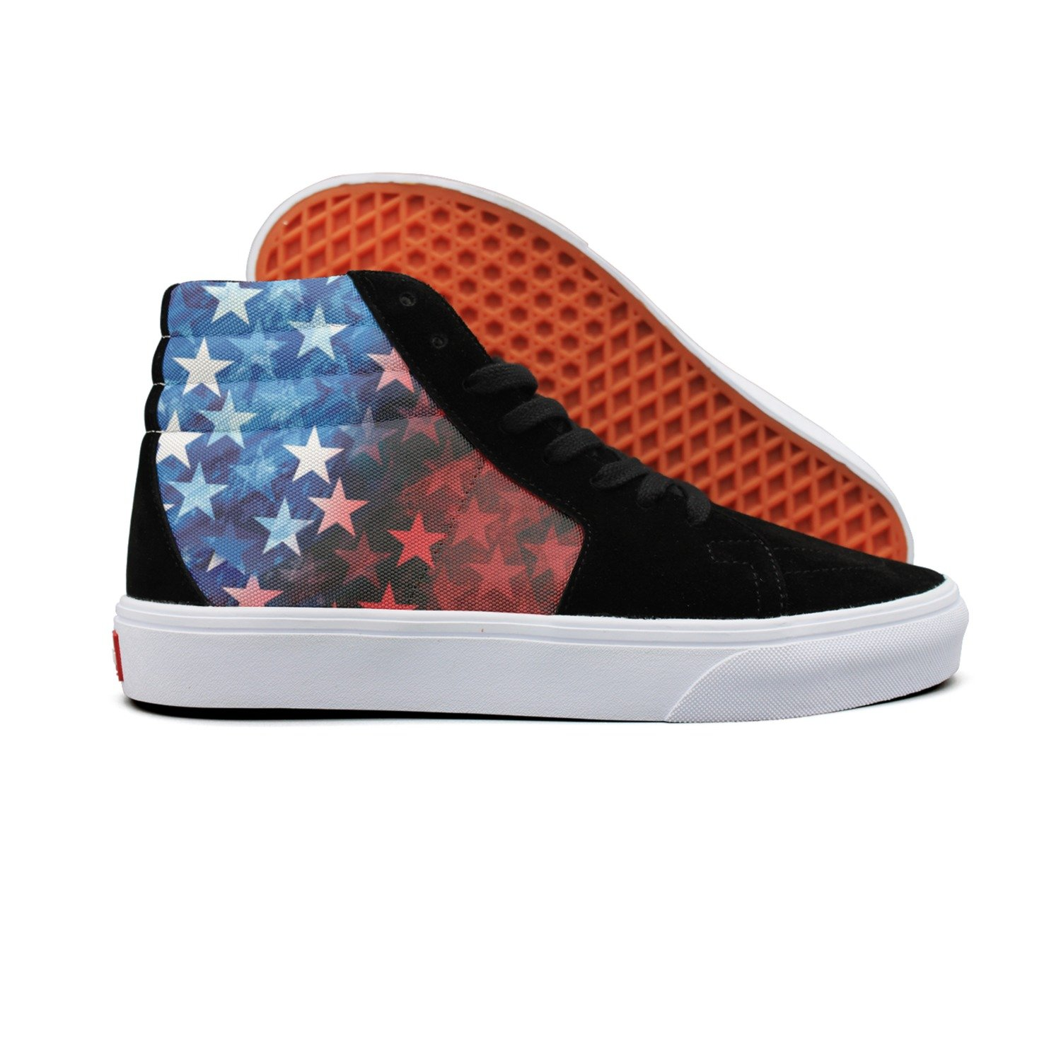 777d95deeb346 Amazon.com: gxxiishow USA Flag Vintage Style Canvas Men Shoes ...