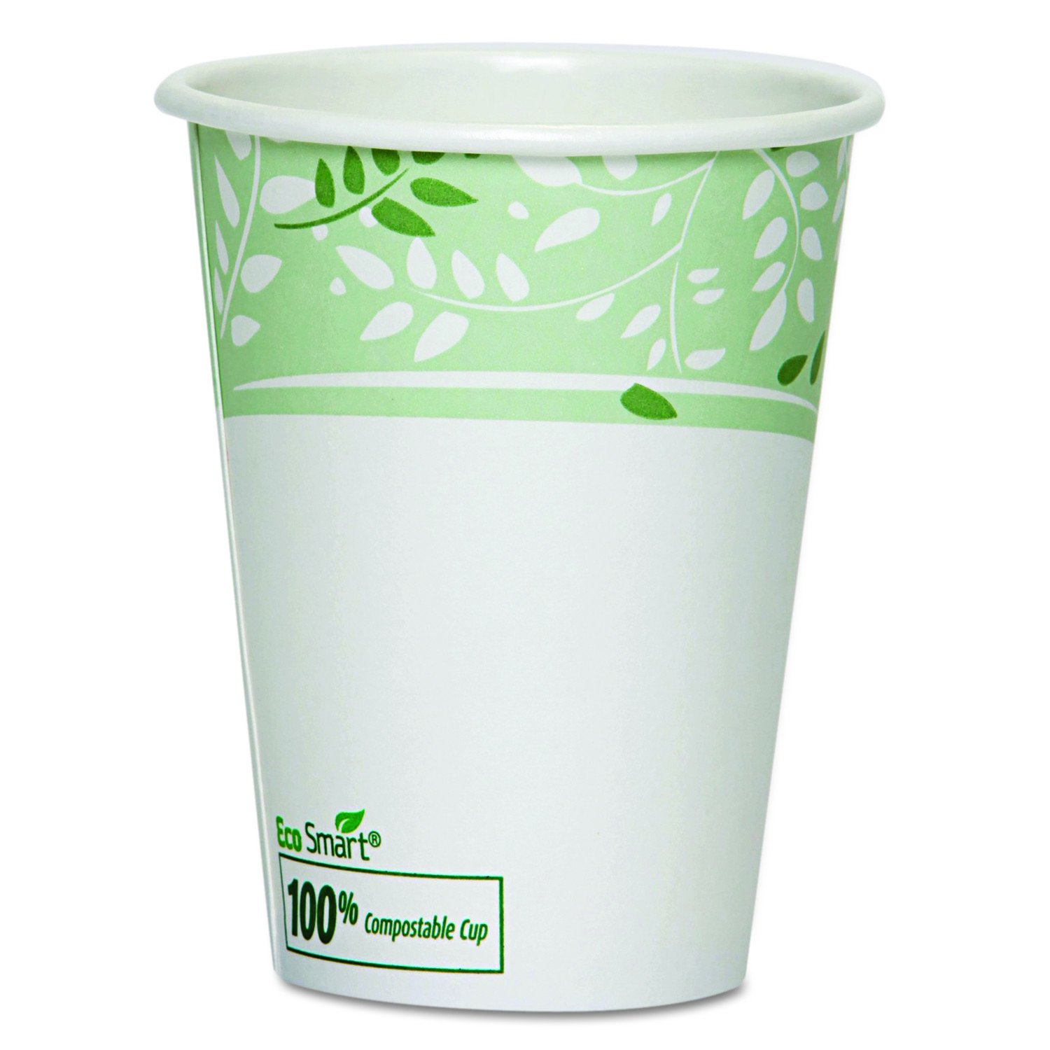 Image of Dixie 12 oz. EcoSmart Paper Hot Coffee Cups w/ PLA Lining by GP PRO (Georgia-Pacific), Viridian, 2342PLA, 1,000 Count (50 Cups Per Sleeve, 20 Sleeves Per Case) Health and Household
