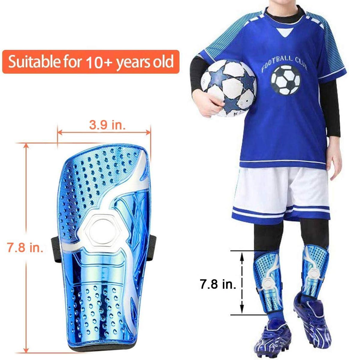 Bambini WIKEA Parastinchi da Calcio per Bambini Attrezzature da Calcio Traspiranti per vitelli per Bambini 6-12 Anni Ragazzi Ragazze Adolescenti