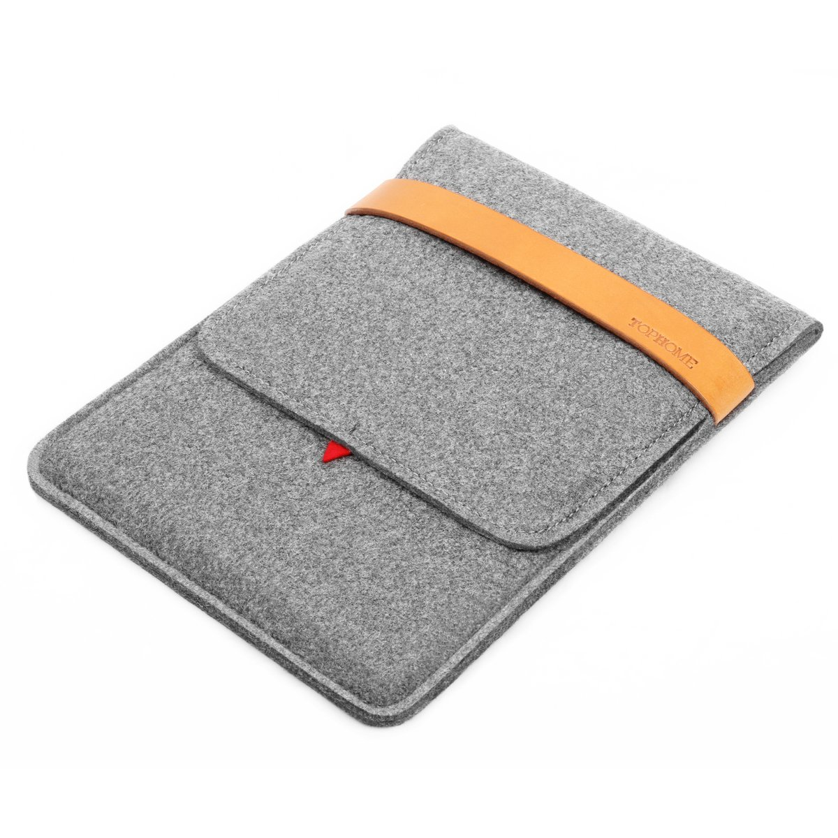 TOPHOME Tablet Sleeve Bag Case Carrying Protector Genuine Leather Lock Compatible for iPad Air/iPad Air 2/9.7-inch iPad Pro, Grey