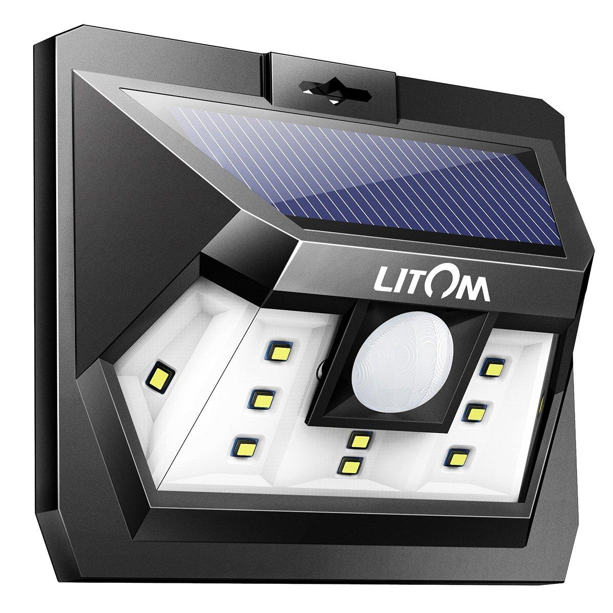 Litom Super Bright 10 Led Solar Light Motion Sensor Light