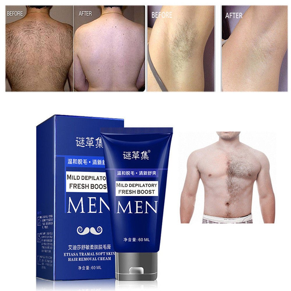 Man's Permanent Body Hair Removal Cream Depilatory Bubble Paste,Outsta Painless Flawless Used on Body, Leg,Hand, Armpit, Hair Loss Depilatory Cream (Blue)