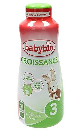 BabyBio Leche de Crecimiento Fórmula Líquida 1L, paquete de 3