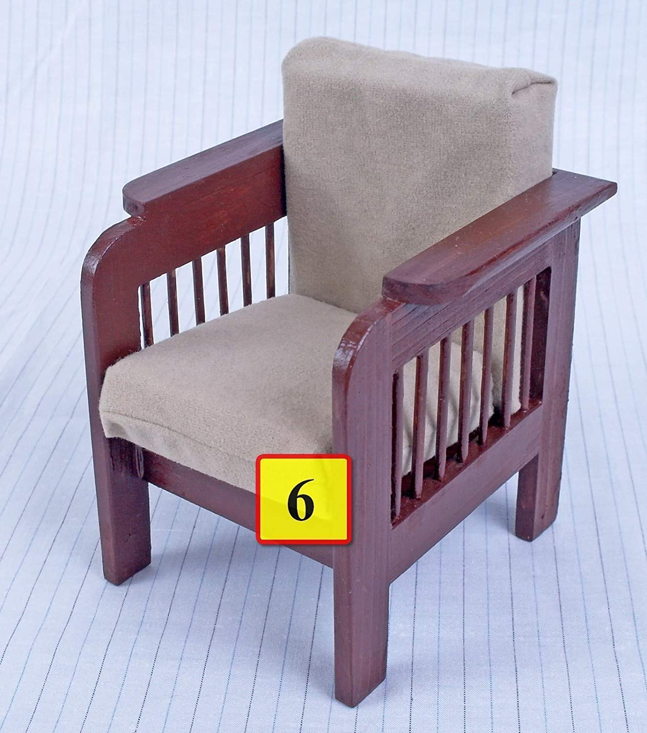 MH Blythe Furniture for Barbie dolls armchair wooden dollhouse miniature self-production kit 1:6 scale for 12 inch dolls Barbie yosd role-playing games girls gift