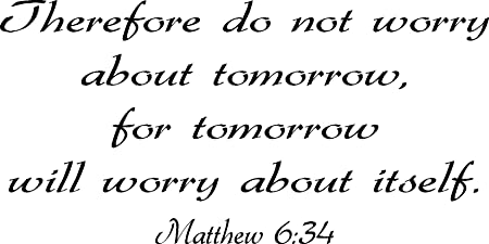 Wall Art Poster Do Not Worry About Tomorrow Art//Canvas Print Home Decor