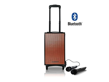 Pure Acoustics MCP-100 Extreme Portable Bluetooth Party Karaoke Machine Sound System with Telescoping Handle