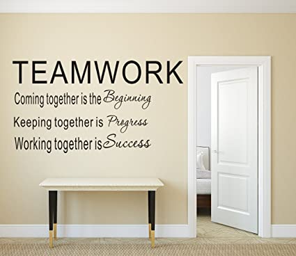 Delightful LUCKKYY Large Teamwork Definition Office Vinyl Wall Decals Quotes Sayings  Words Art Decor Lettering Vinyl Wall