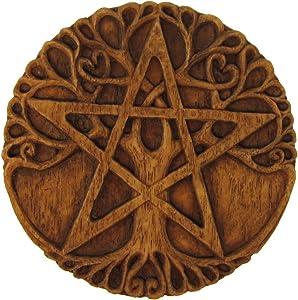 Dryad Design Tree Pentacle Plaque Wood Finish