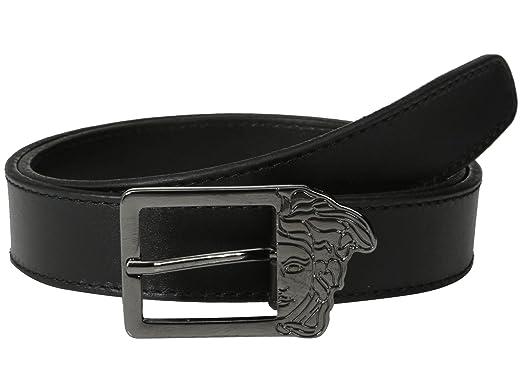 e05e5b56c4516 Amazon.com: Versace Collection Men's Half Medusa Buckle Leather Belt ...