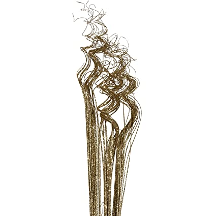 Amazon Gold Sparkle Glitter Curly Ting Ting Branches Vase