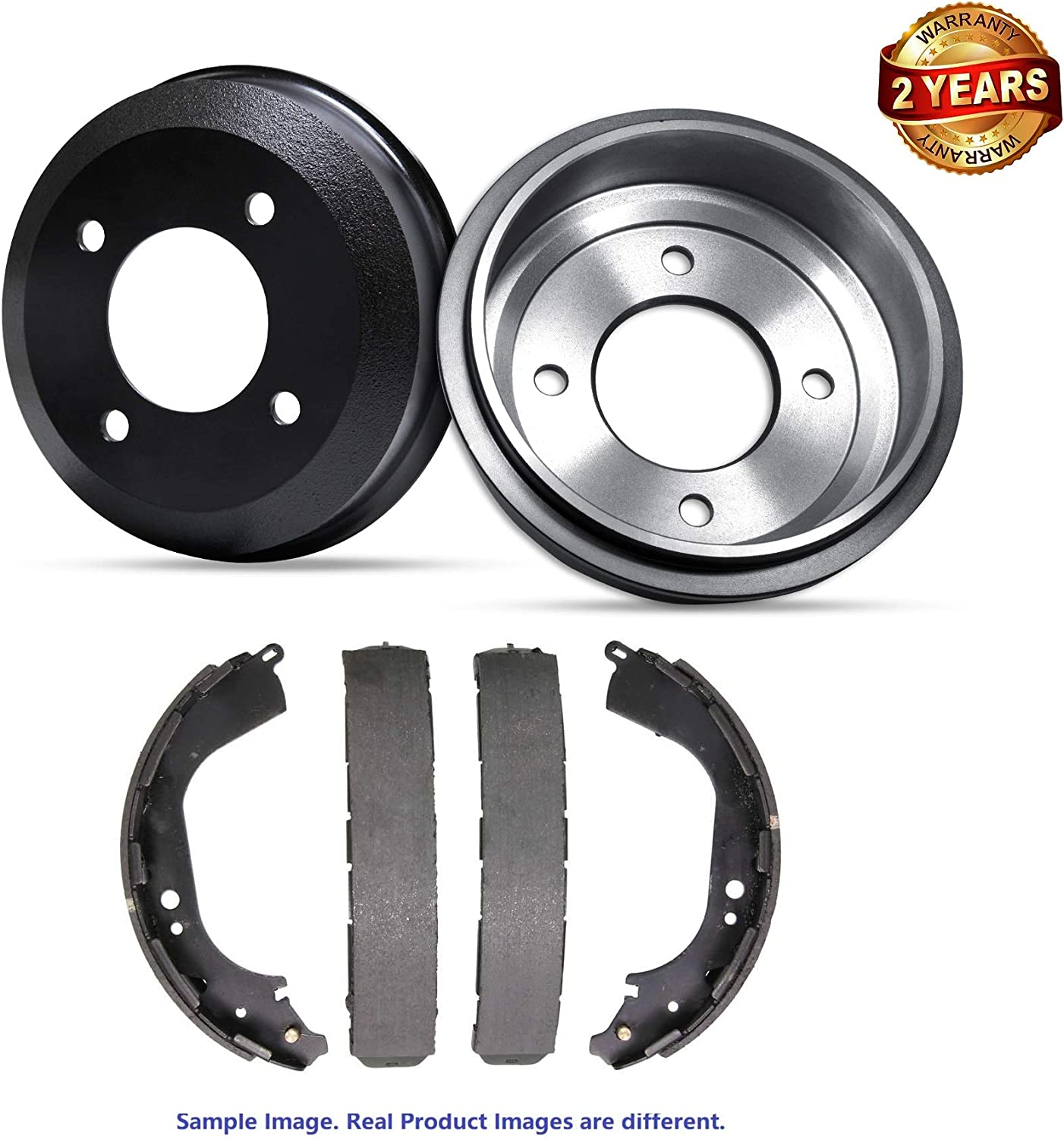 For 2007 Dodge Dakota ST Premium Quality Rear Brake Drums and Drum Brake Shoes Two Years Warranty Inroble
