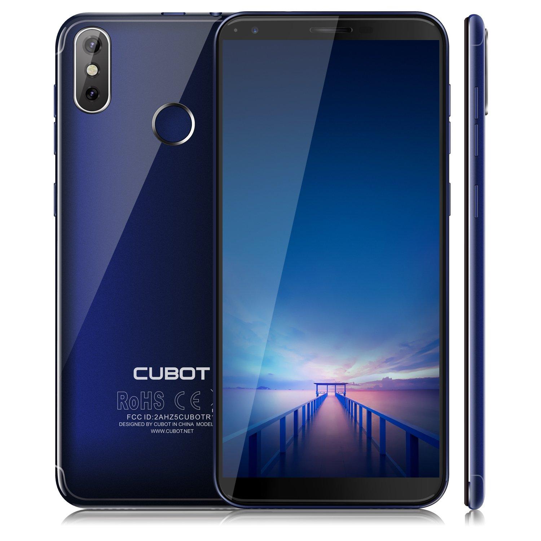 "CUBOT R11 (2018) Pantalla 18:9/5.5""Diseño El Fin de los Bordes Detección de Huellas Android 8.1 Dual Sim 2GB + 16GB, Dual Cámara Trasera 13MP+2MP / Frontal 8MP, Quad-Core 2G / 3G 2800 mAh Azul"