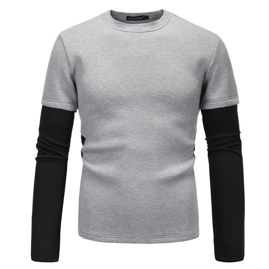 Ndsoo männer - Pullover Pullover Slim Kopf miantao Raum runde männer Winter Mode - Pulli,hellgrau,m