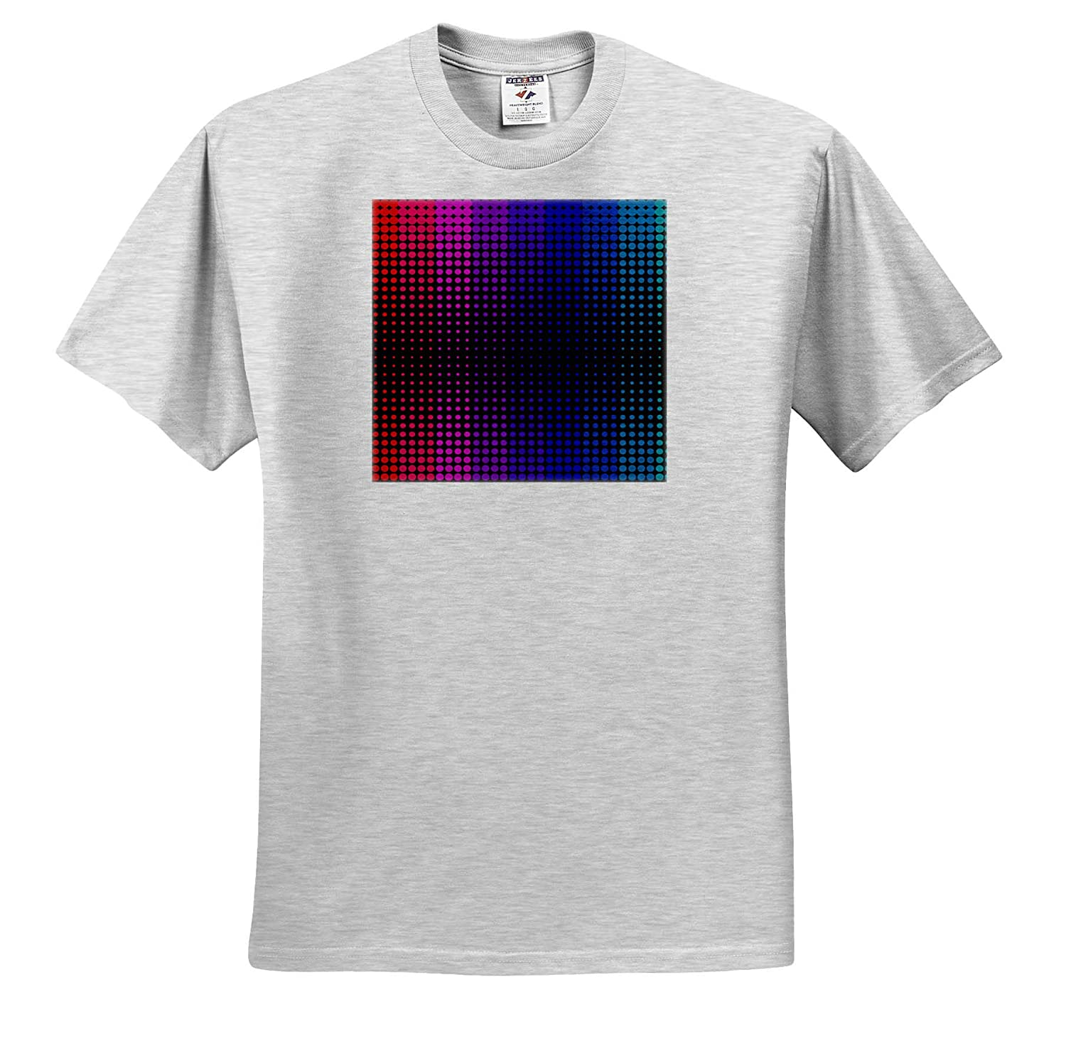 3dRose Sven Herkenrath Art Colorful Circles Abstract and Geometric Design Style T-Shirts