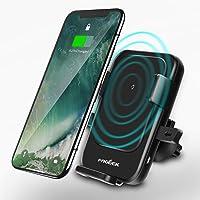 FOGEEK - Cargador de Coche inalámbrico Ajustable para iPhone X/iPhone 8, Carga inalámbrica rápida para Samsung Galaxy Note 9, Note 8, S9, S8, S7