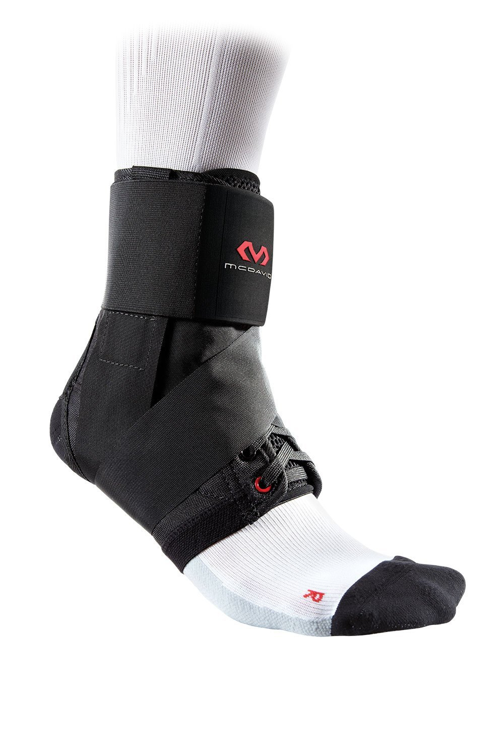 McDavid 195 Deluxe Ankle Brace with Strap (Black, Small) by McDavid (Image #1)