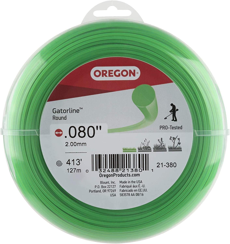 Oregon 21-380 Gatorline 1-Pound Coil of .080-Inch-by-413-Foot Round String Trimmer Line : String Trimmer Accessories : Garden & Outdoor