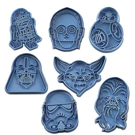 Cuticuter Star Wars Pack Cortador de Galletas, Azul, 16x14x1.5 cm 7 Unidades