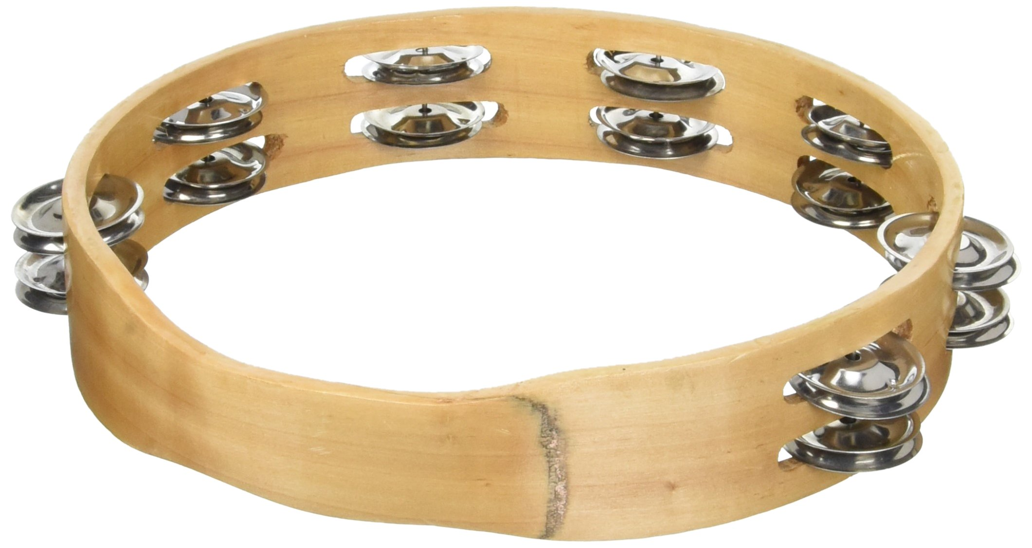 HW Products T10HLSD 10In. Double W/O Head Tamborine