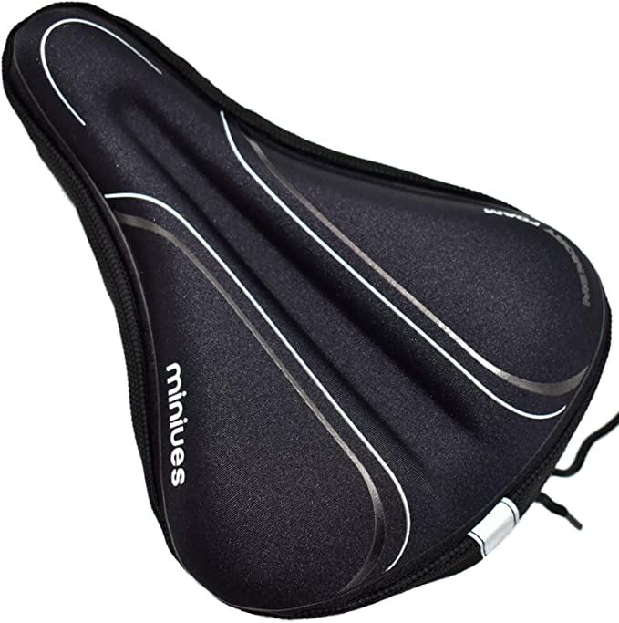 Arespark Bike Seat Cushion Suitable for Outdoor Riding Ultra-Light Bike Seat Cover with Soft Shock Absorption Seat Saddle for Mountain and Road Bike Riding Cycling Competition Replacement