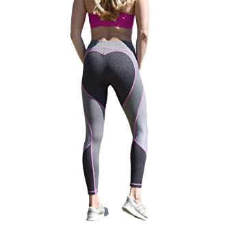 5beec04027 Barbells to Bombshells Heart Booty, Butt Lifting, Enhancing Stretch  Leggings Workout Gym Tights at Amazon Women's Clothing store: