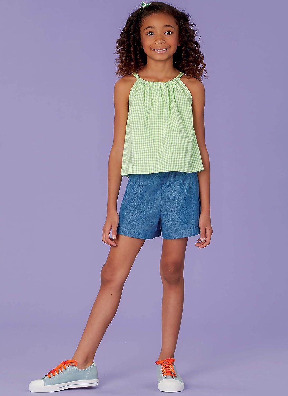 Top KWIK-SEW PATTERNS K0259A Kwik Girls Shorts and Dress Sewing Patterns by Ellie Mae Designs Sizes 7-14
