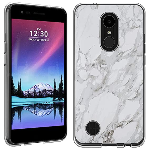 the best attitude e0189 7f71d LG K20v case - [White Marble] (Crystal Clear) PaletteShield Soft Flexible  TPU gel skin phone cover (fit LG K20v/ K20 Plus)