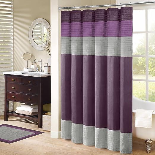 Madison Park MP70 222 Amherst Shower Curtain 72x72 Purple Amazonca Home Kitchen