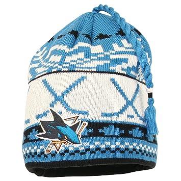 San Jose Sharks Reebok Jacquard Pattern Hocky Stick Tassel Cuffless