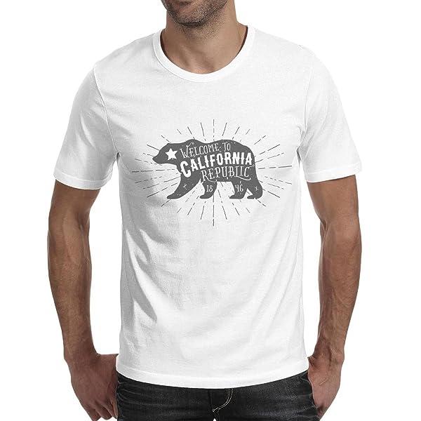 Sglften8 S Wel California Bear Summer T Shirts Fashion Short Sleeve Basic O Neck Funny Tshirts Tees For
