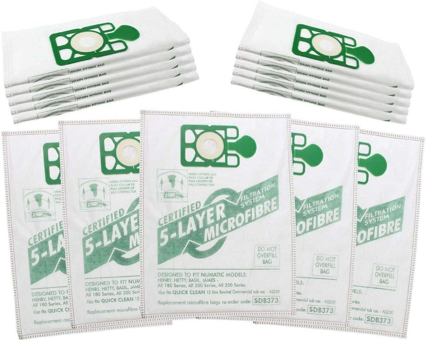20 Pack-S/' ADAPTE Aspirateur NUMATIC HENRY Hoover Aspirateur Double Couche Poussière Papier Sacs