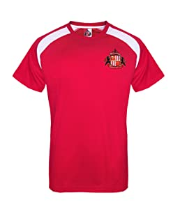 Sunderland AFC Official Football Gift Mens Poly Training Kit T-Shirt Red Large