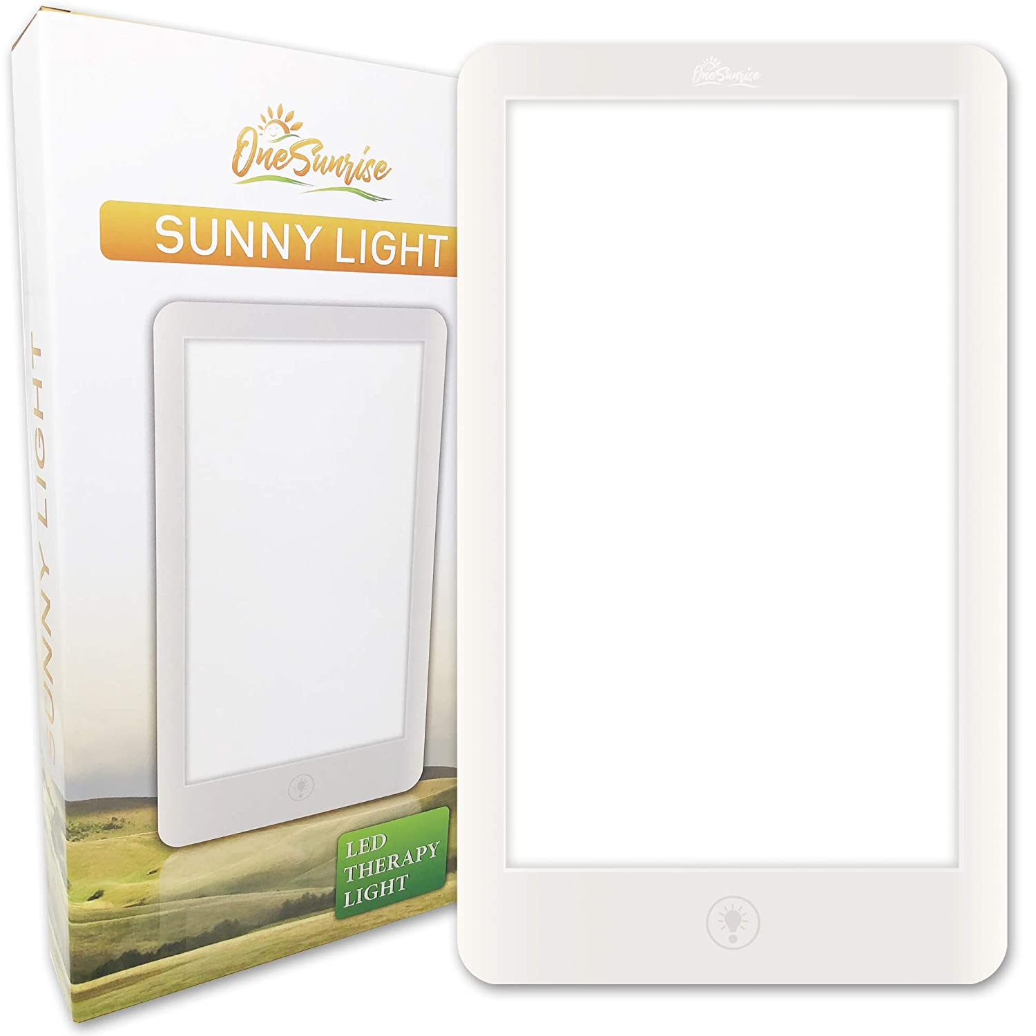 SunnyLight White Light Therapy Lamp Super Bright LED Panel Light with Adjustable Brightness up to 32,000 Lux and Multi-Position Stand