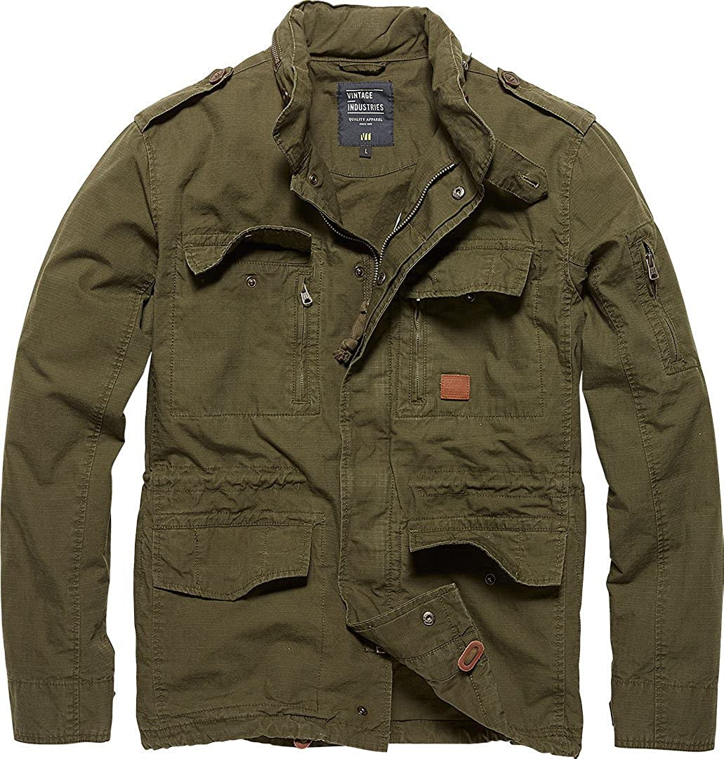 Vintage Industries - Cranford Jacket Übergangsjacke Dark Olive Herren M65  Größe XXL  Amazon.de  Bekleidung 66f56b54db