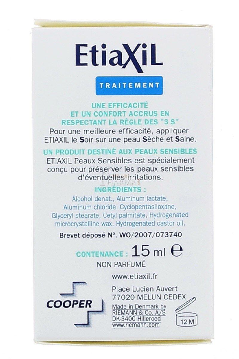 ETIAXIL UNPERSPIRANT ROLL-ON TREATMENT FOR ARMPITS SENSITIVE SKINS 15ML PACK OF 6PCS