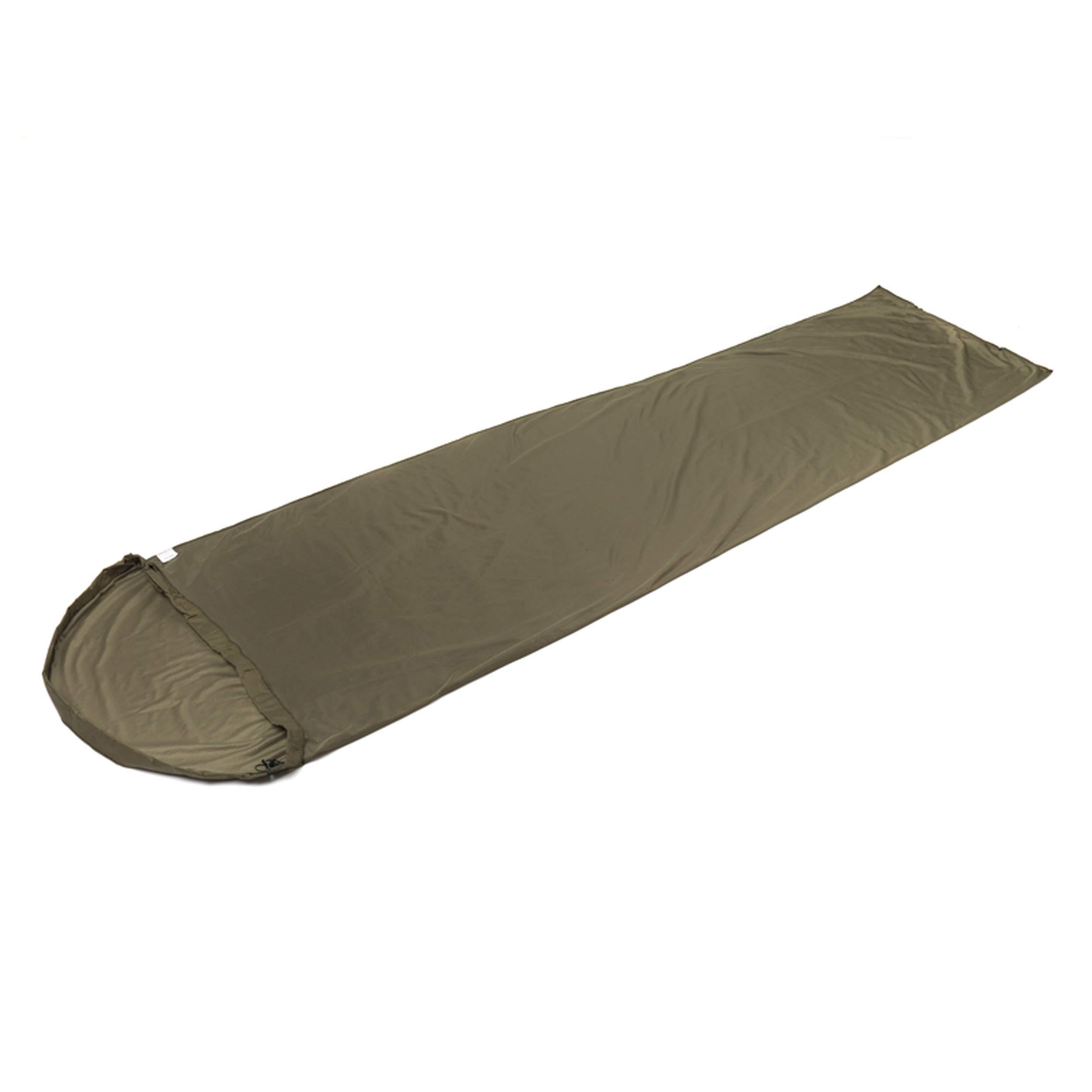 Snugpak TS1 Thermal Suede Sleeping Bag Liner, Polyester, Warm Insulation, Olive by Snugpak